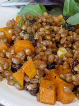 Butternut Squash Wheatberry Risotto with Goat Cheese and Sage pairs ...