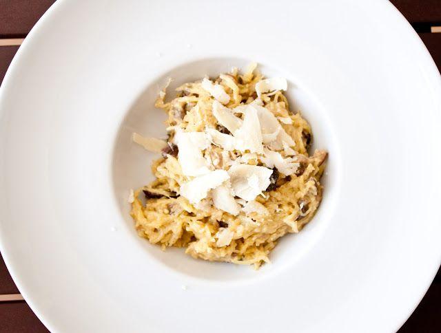 Cucinare con amore: Špagetová dýně s houbovou omáčkou