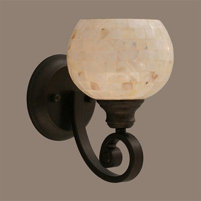 seashell bathroom lighting fixtures. toltec lighting curl 1 light wall sconce with seashell glass this product by has a bronze finish. bathroom fixtures