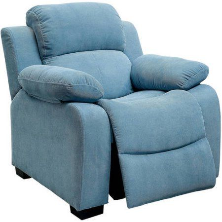 Taylor Kids Recliner Chair in Pink, Blue