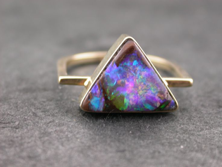 boulder opal ring -oh such colors!!