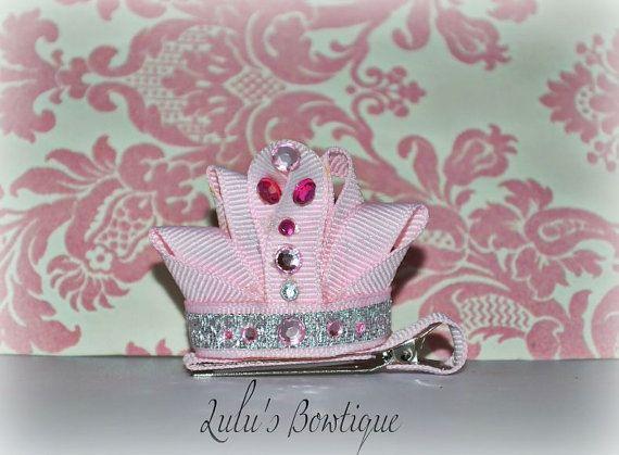 Princess Tiara Ribbon Sculpture Hair Clip