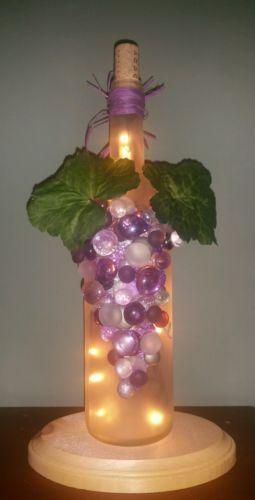 Светящийся ошейник для винных бутылок, фиолетовый, ночник, виноград, блеск