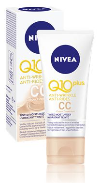 NIVEA Q10 Plus Anti-Wrinkle CC Cream is something that I had high hopes for. I wouldn't recommend this as a day cream for olive colored oily skin. See full review here: http://ladyiam.com/2016/02/09/nivea-q10-plus-anti-wrinkle-tinted-day-cream-review/