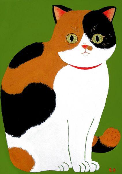 イラスト画「みどり、三毛猫」[もも子] | ART-Meter