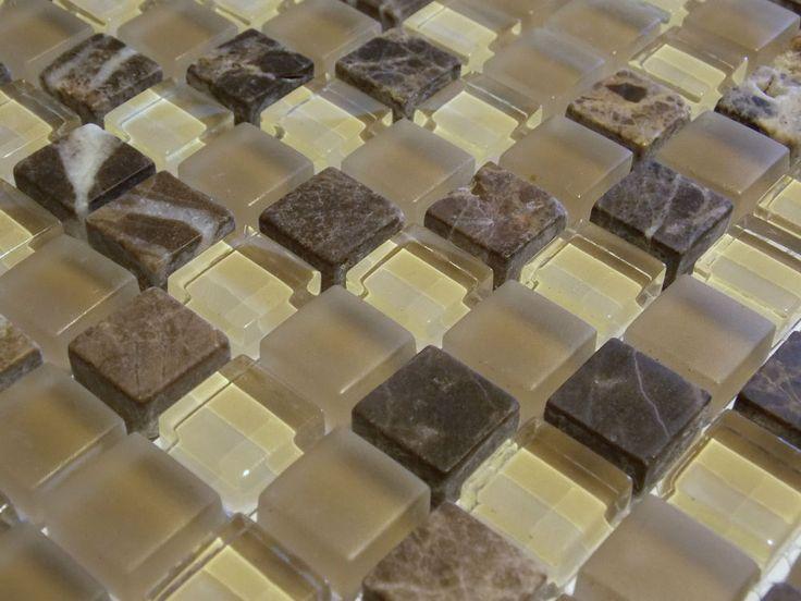 Glasmosaik Naturstein Marmor Fliesen Beige Sand Braun Mocca Mosaik Bad  FTHDA00111 EUR Zzgl. 6 EUR