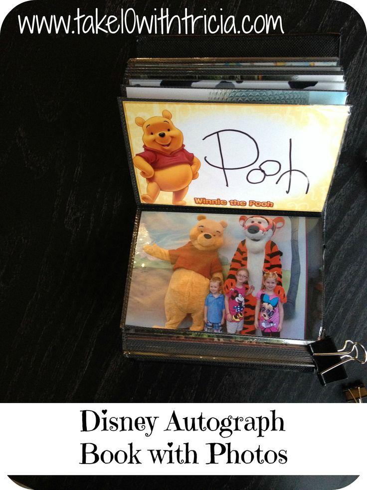 Disney Autograph Book with Photos DIY