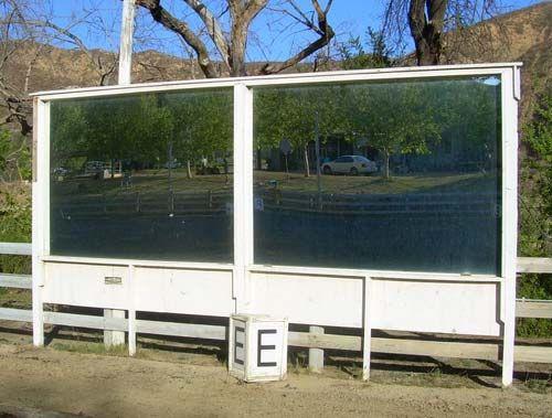 Outdoor arena safe acrylic mirror