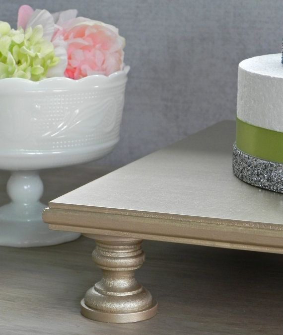 20 Cake Stand Champagne Wedding Cake Stand by EIsabellaDesigns