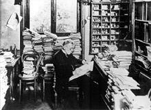 Paul Ehrlich around 1900 in his Frankfurt office
