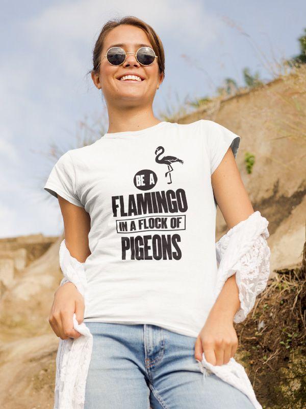 Spiksplinternieuw T-Shirt Be a Flamingo in 2020   Streetwear tshirt, Trendy sweaters DS-94