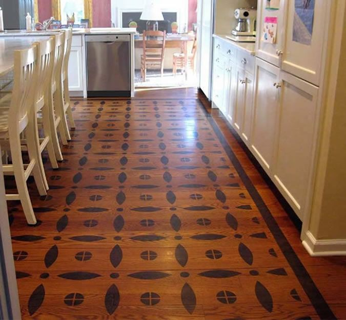 Painted Kitchen Floor Cloth: 17 Best Images About Stencil Designs On Pinterest