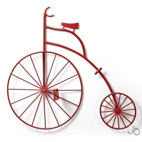 Una bellissima bicicletta, fantastica decorazione a parete in metallo rosso anticato, per dare un tocco unico e originale al vostro ambiente.