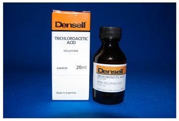 ÁCIDO TRICLOROACETICO • Ideal para cauterizar encias sangrantes y en casos de pericoronaritis • Solución al 30% • Contiene: Frasco x 20 ml - Cod 6510