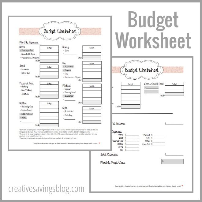 building your first budget free printable worksheets and money. Black Bedroom Furniture Sets. Home Design Ideas