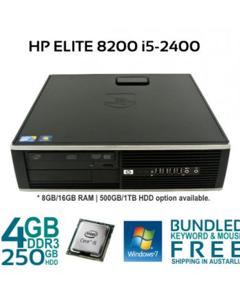 Get refurbished HP Compaq 8300 Elite Desktop Computer i5-3470 3.20Ghz 8/16Gb Ram 240 SSD Win 7 Pro PC with an ideal blend of size, performance, and expansion capabilities.
