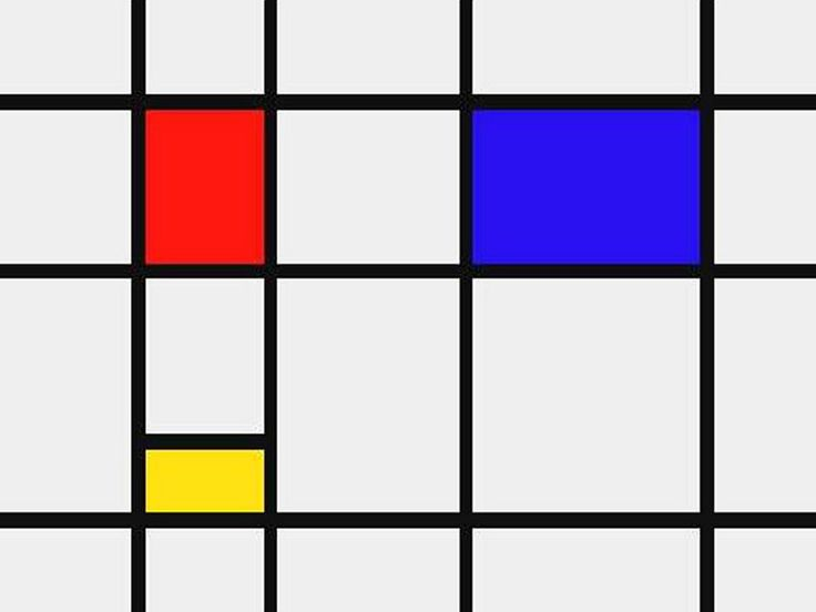 """PIET MONDRIAN (1872 -1944) – Along with Kandinsky and Malevich, Mondrian is the leading figure of early abstract painting. After emigrating to New York, Mondrian filled his abstract paintings with a fascinating emotional quality, as we can se in his series of """"boogie-woogies"""" created in the mid-40s"""