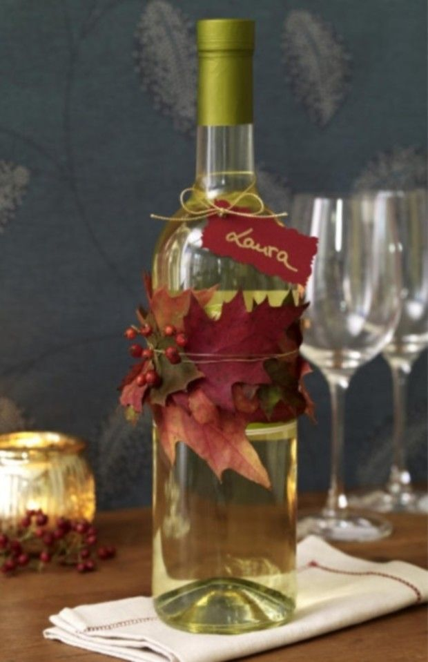 Love this for bringing a bottle of wine to Thanksgiving dinner.