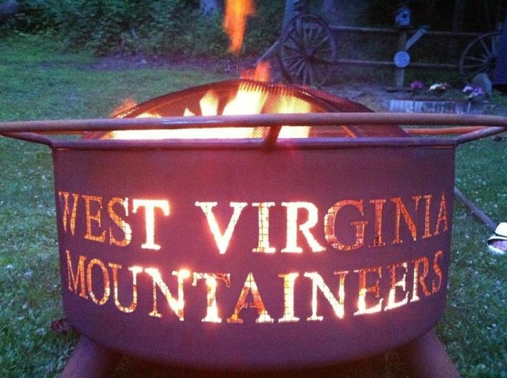 WVU fire pit! love it