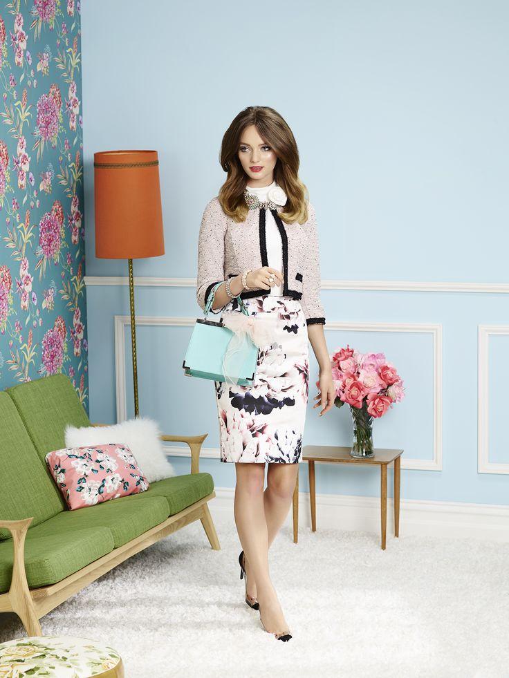 Bella Rosa Top | Moonlight Floral Skirt | Kate 3/4 Sleeve Jacket | Review Australia