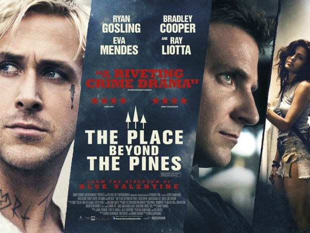 A movie I watched fairly recently, The Place Beyond The Pines directed by Derek Cianfrance, who also directed Blue Valentine. The Place Beyond The Pines shows the lives of three different characters and how they all interconnect. Here is a review:  http://movies.nytimes.com/2013/03/29/movies/the-place-beyond-the-pines-directed-by-derek-cianfrance.html