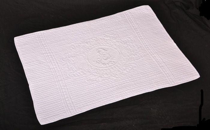 Tapis coton Blanc 55 x 80 cm 75$