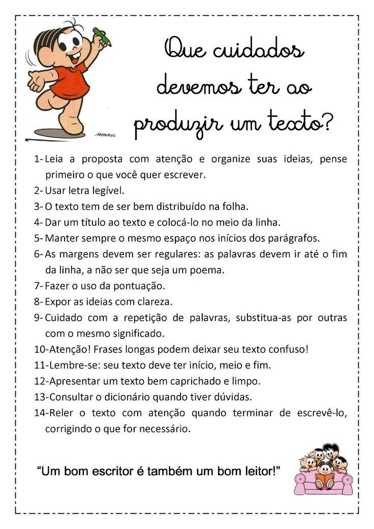 Blog da professora Edivania: CUIDADOS PARA PRODUÇÃO DE TEXTO