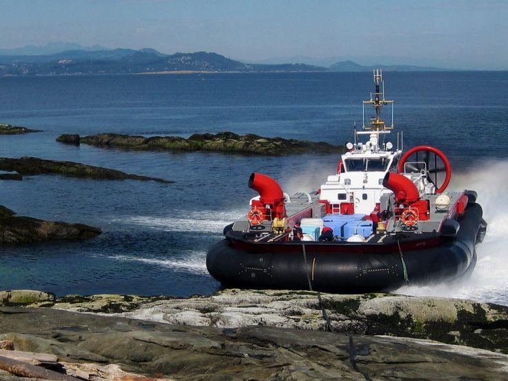 BC Coastguard hovercraft, Entrance Island, BC
