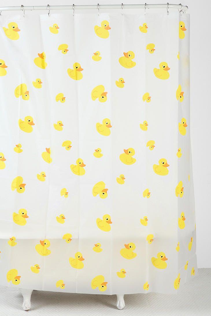 Rubber ducky bathroom accessories - Ducky Shower Curtain