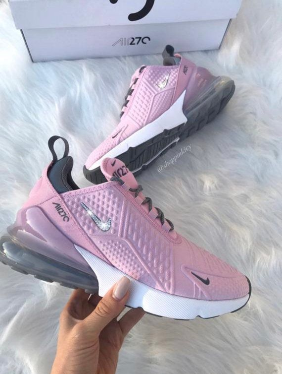 on wholesale quality products new high Swarovski Nike Air Max 270 Shoes Customized With Swarovski ...