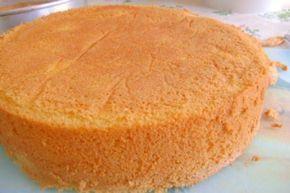 1. Coloque na batedeira, o ovo e o açúcar e deixe bater por 20 minutos no mínimo2. Enquanto bate, adicione em um recipiente alto a farinha, o fermento3. Depois de bater a mistura adicione a água