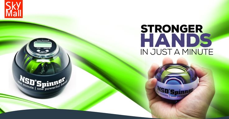 Give it a spin and give your wrist and forearm a workout which can also prevent and overcome repetitive stress-induced injuries at work. Innovative gyroscopic resistance training makes it easy and fun to exercise anywhere anytime.  http://www.skymall.com/nsd-spinner-hand-exercisers/G204890253.html?page=1
