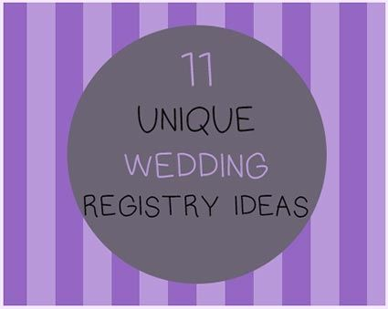11 Alternatives to the Traditional Wedding Gift Registry