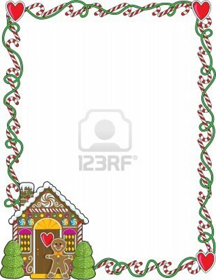 A Border Or Frame Featuring Christmas Candy Canes And A