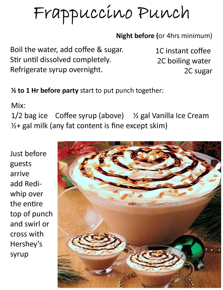 Seattle loves our Starbucks Frappuccinos - this recipe is our local party version. It will never disappoint your guests. #FrappuccinoPunch