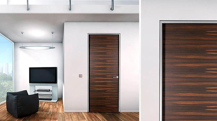 Frameless wood interior doors by bartel dream home for Contemporary interior doors