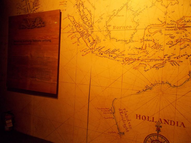 Map of Dutch East Indies which is showed on a wall in Bank Indonesia Museum, Jakarta.