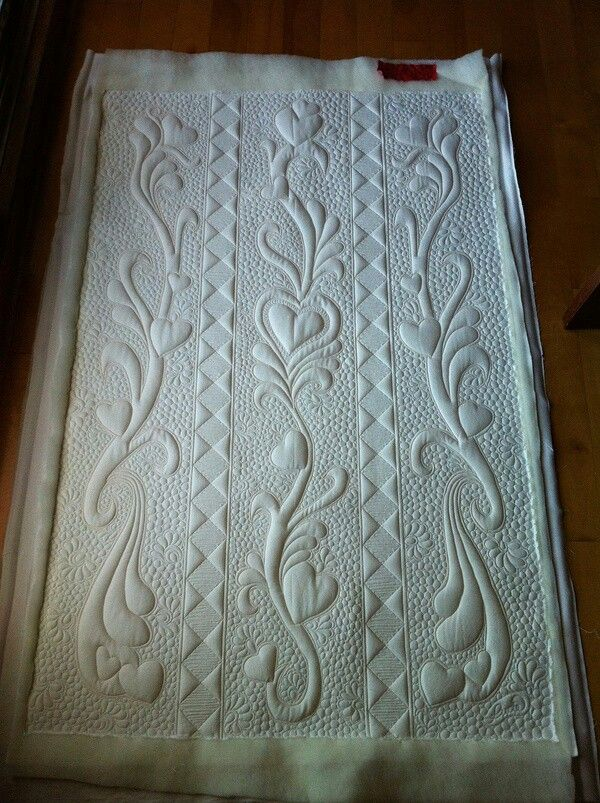 Quilting on white