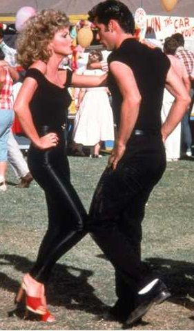If I ever go to a Halloween party, we are going as Sandy and Danny! Josh can totally pull off a greaser!
