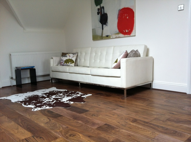 Walnut Wood Flooring With Engineered Back And 150 Wide Boards Real Floors