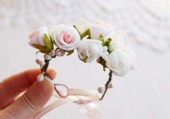 Rose Woodland Wrist Corsage Bridal Flower Bracelet by HandyCraftTS