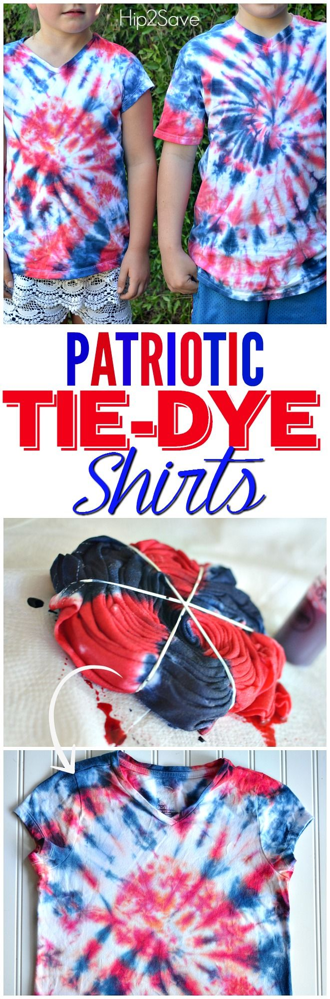 Easy Patriotic Tie-Dye Shirts – Hip2Save