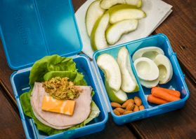Low-Carb Lunch Box - Pack this easy and healthy lunch the night before to start your morning with little stress!