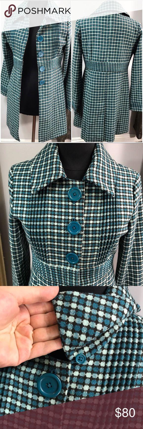 Plaid Long Overcoat Euc. Fast shipping. Arden B Jackets & Coats Pea Coats