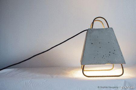 La Lustrothèque – Sophie Vaugarny / Designer – Plasticienne light concrete