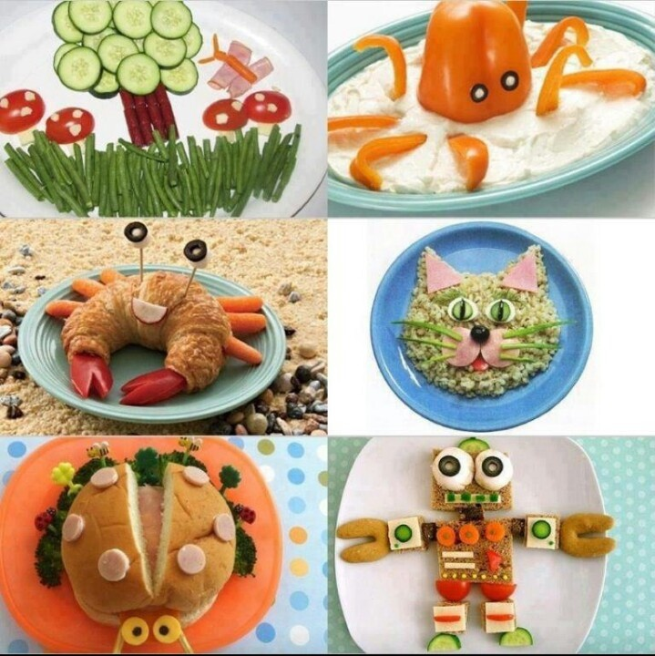Creative meals for kids meals for kids pinterest for Cool food ideas for kids