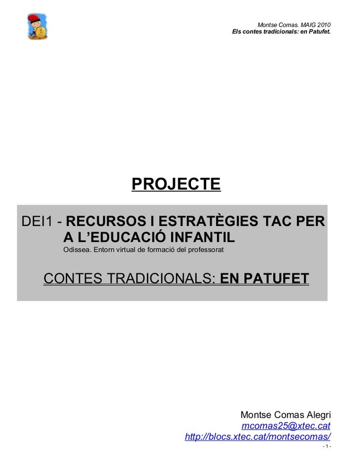 projecte-en-patufet by mcomasa via Slideshare