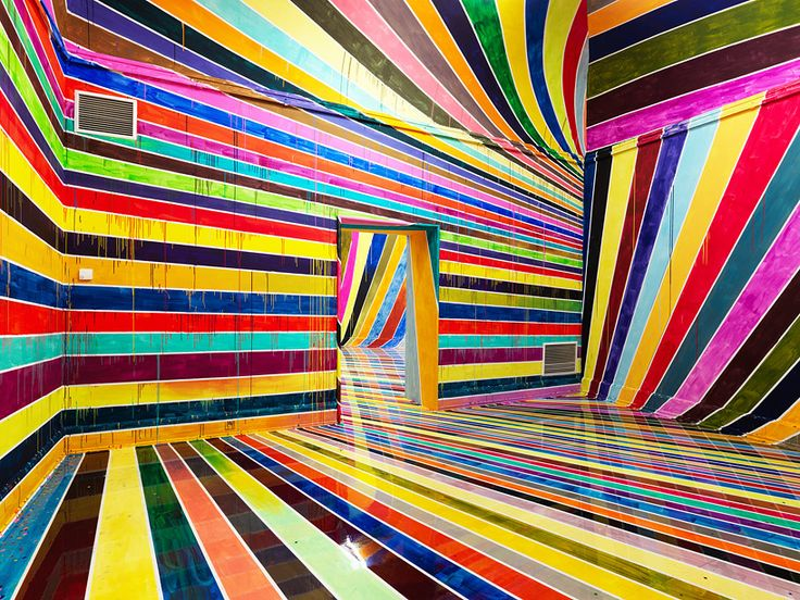 markus linnenbrink places viewers within a psychedelic color canvas