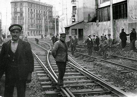 Barcelona, carrer Pelai, 1910.