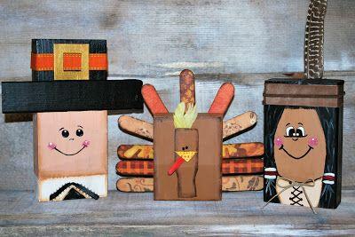 2x4 Pilgrim, Turkey & Indian for Thanksgiving...